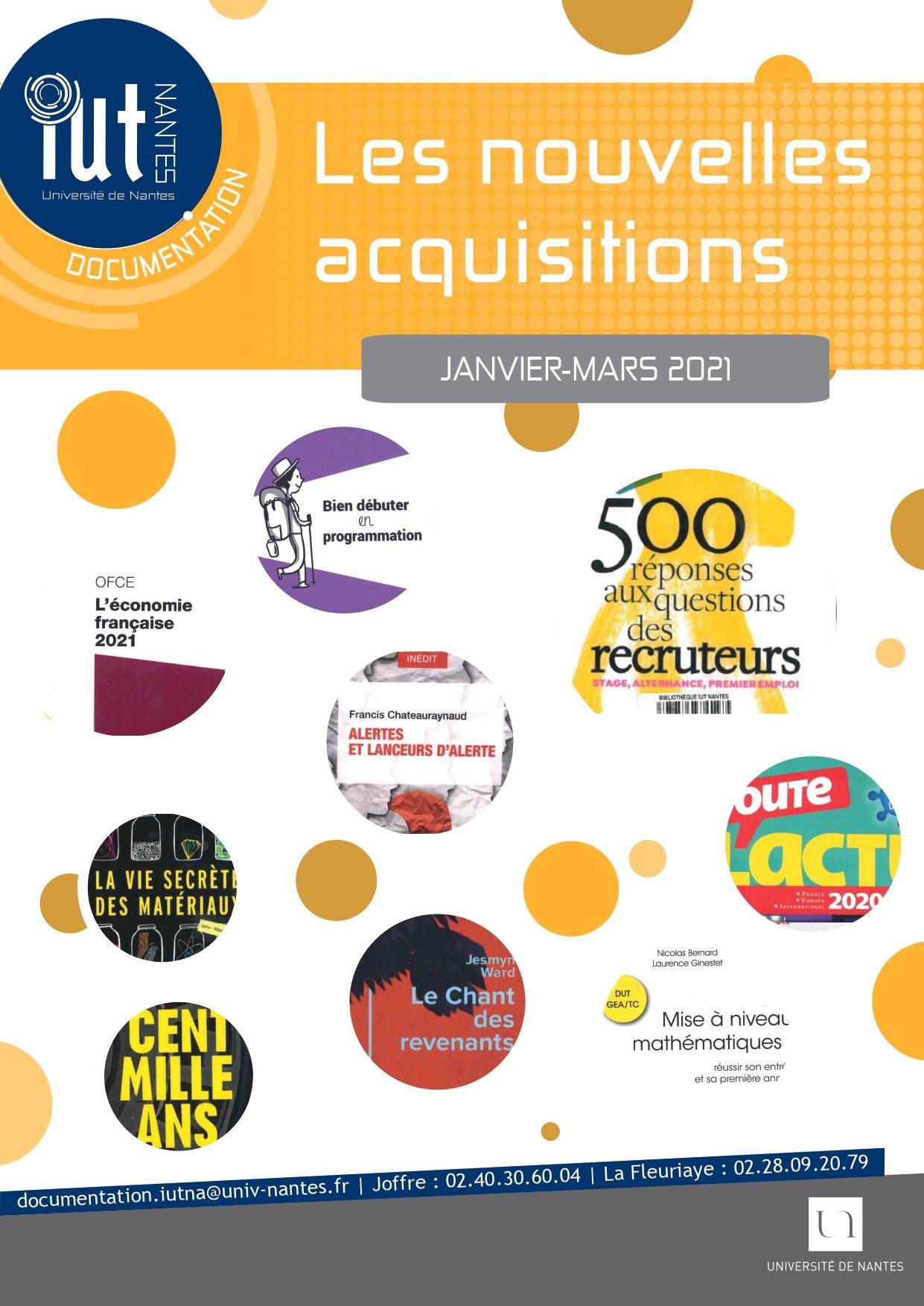 Acquisitions janvier-mars 2021
